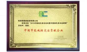 中國節能減排突出貢獻企業(ye)